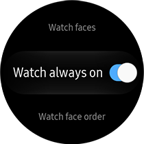 select the Watch Always On option to turn it on or off.