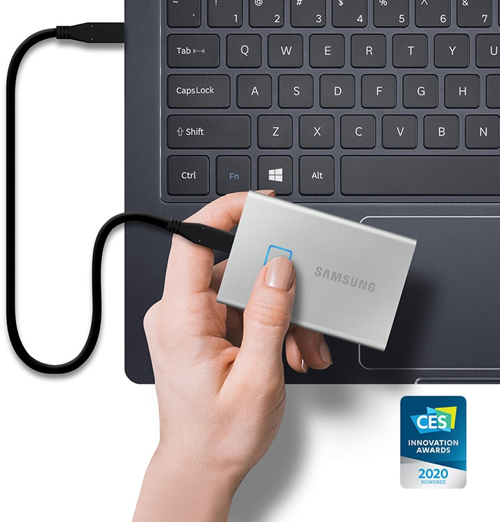 Portable SSD T7 touch silver