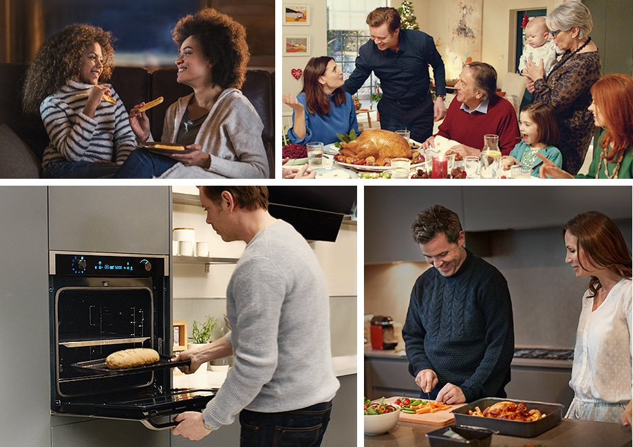With Dual Cook Flex™, you can bake bread, cook simple meals during the week, or prepare dishes for a late dinner with your friends. You can also cook a large, plentiful meal for the whole family