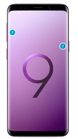 Boutons du Galaxy S9