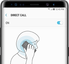 Galaxy S9 - How do I enable the Direct call feature on my Samsung Galaxy S9 (SM-G960W)?