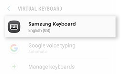 How do I add other languages to the keyboard on my Galaxy J3 Prime (SM-J327W)?