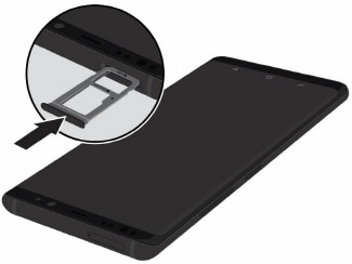 How do I insert a microSD card into my Samsung Galaxy S9+ (SM-G965W) or remove it?