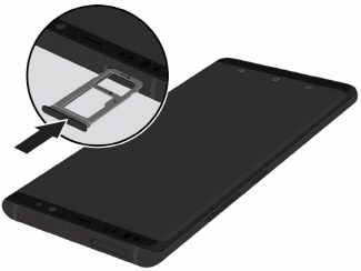 How do I insert a microSD card into my Samsung Galaxy S9 (SM-G960W) or remove it?