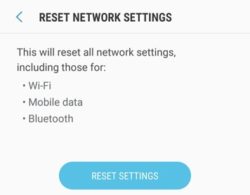 Reset network settings 5