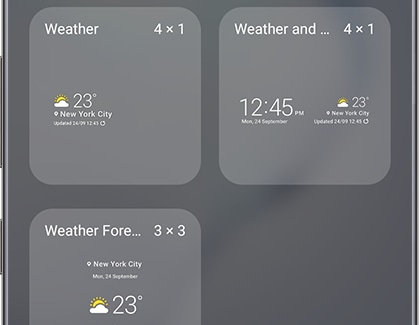 Use a different weather widget