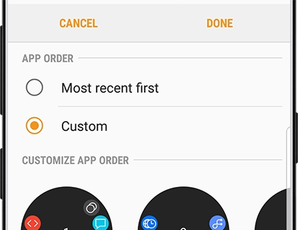 Reorder Apps