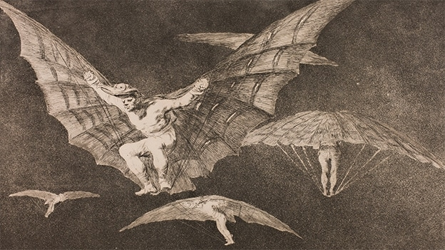 Francisco de Goya y Lucientes Disparate 13: A Way of Flying. Detail (1815-1816)