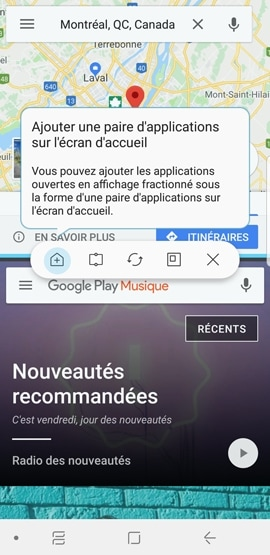 Galaxy S9+ : Lancer une paire d'applications (SM-G965W)