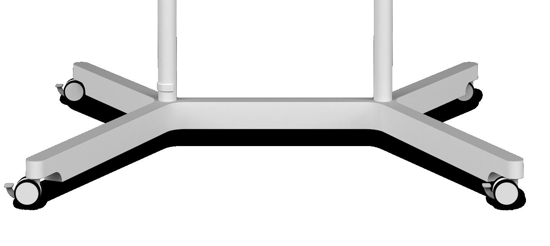 Una imagen que muestra la parte inferior ampliada de un dispositivo Samsung Flip, con cuatro ruedas que se mueven de izquierda a derecha.