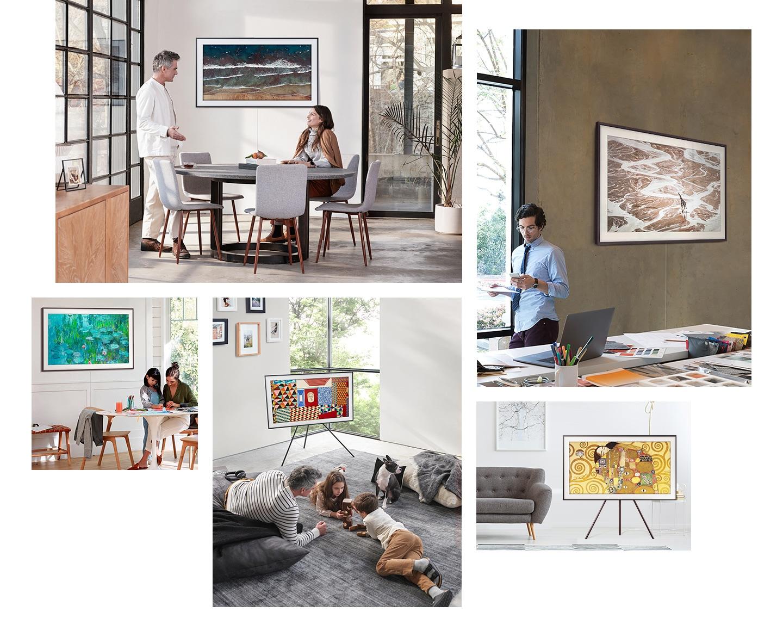 三星畫境電視可以與室內裝飾相得益彰,無論是客廳還是辦公室,不同空間都可以瞬間化為精美畫廊。