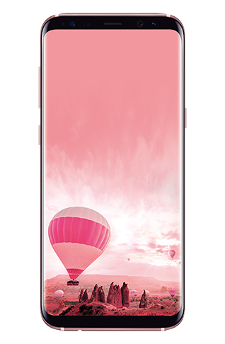Front view of Galaxy S8+ in Rose Pink