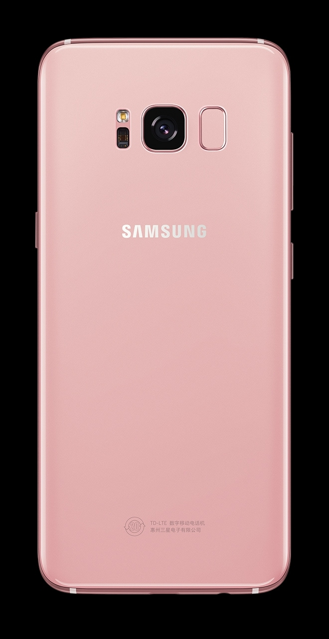 Back view of Galaxy S8 in Rose Pink