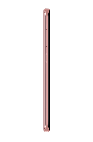 Left side view of Galaxy S8 in Rose Pink
