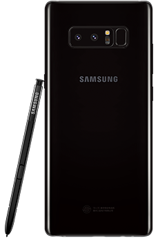 S Pen leaning against Galaxy Note8