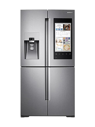 Family Hub™ Multi-door Fridge Freezer, 550L, Real Stainless