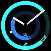 Esfera de reloj POP en color celeste