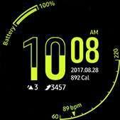 Esfera de reloj de arena en color lima