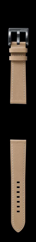 Correa de cuero clásico en color beige