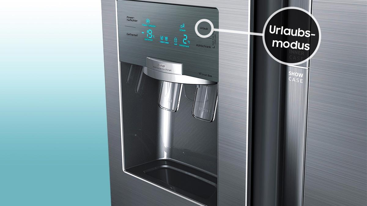 Side By Side Kühlschrank Verbrauch : Der kühlschrank auf urlaubsschaltung samsung de