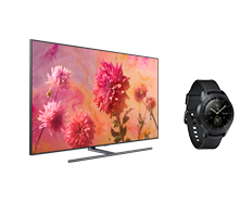 Qled TV and Galaxy Watch