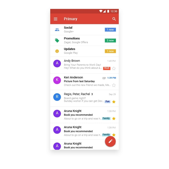 Gmail app til Android