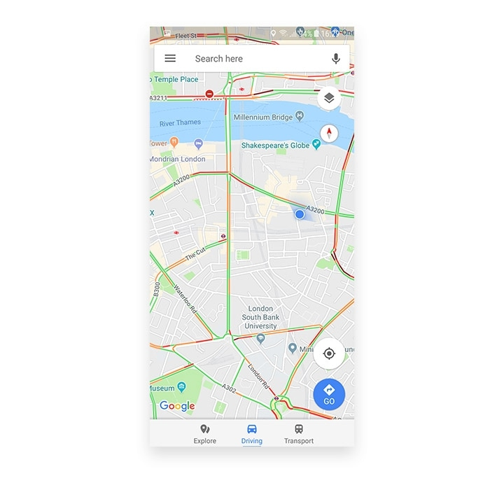Google maps London Sounth Bank