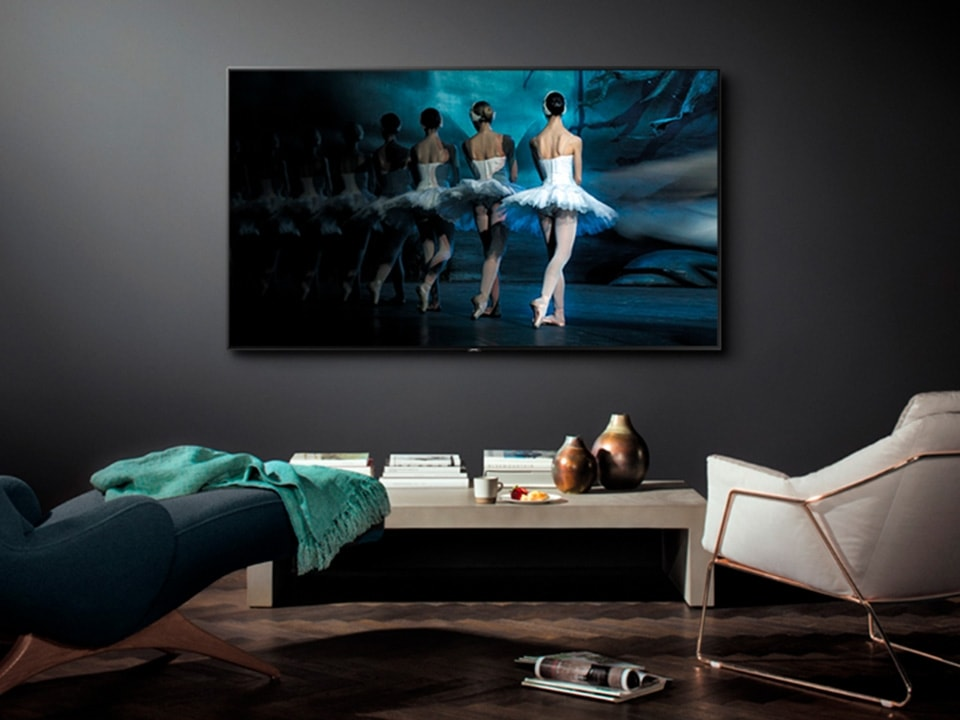Televisor The Frame TV en pared