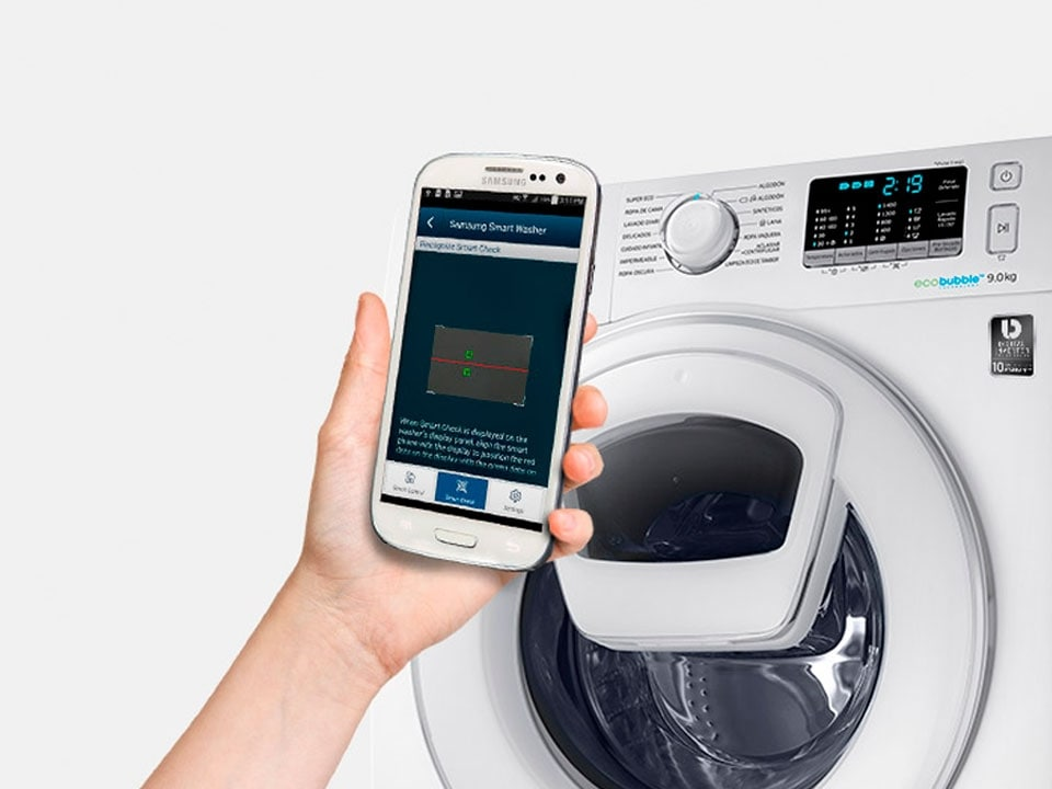 Lavadora Samsung con Smart Check