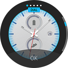 Gear S2 with world clock watch face UI