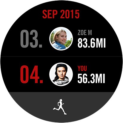Nike plus Running app GUI