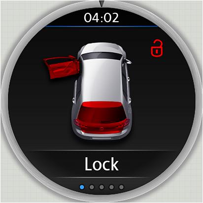 Volkswagen App GUI