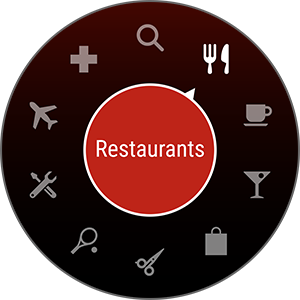 Screenshot 2 of Yelp app for Gear S3