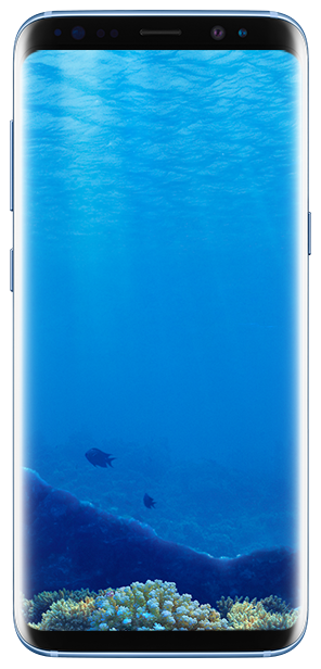 Galaxy S8 front view Blue