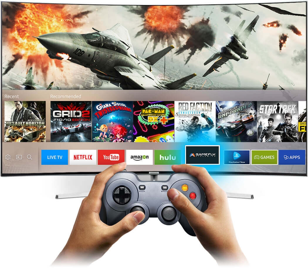 lay different kinds of game directly on Samsung SUHD TV.