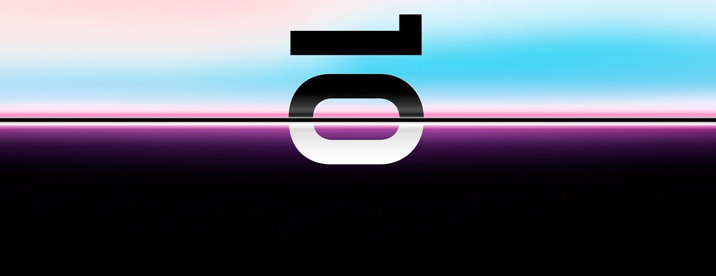 Teaser image for Galaxy UNPACKED invitation with the number 10 shown sideways.