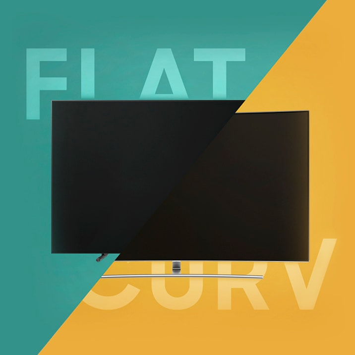Samsung QLED curved tv and Samsung QLED flat tv