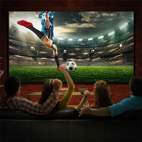 Samsung Super Big TV for watching the big game