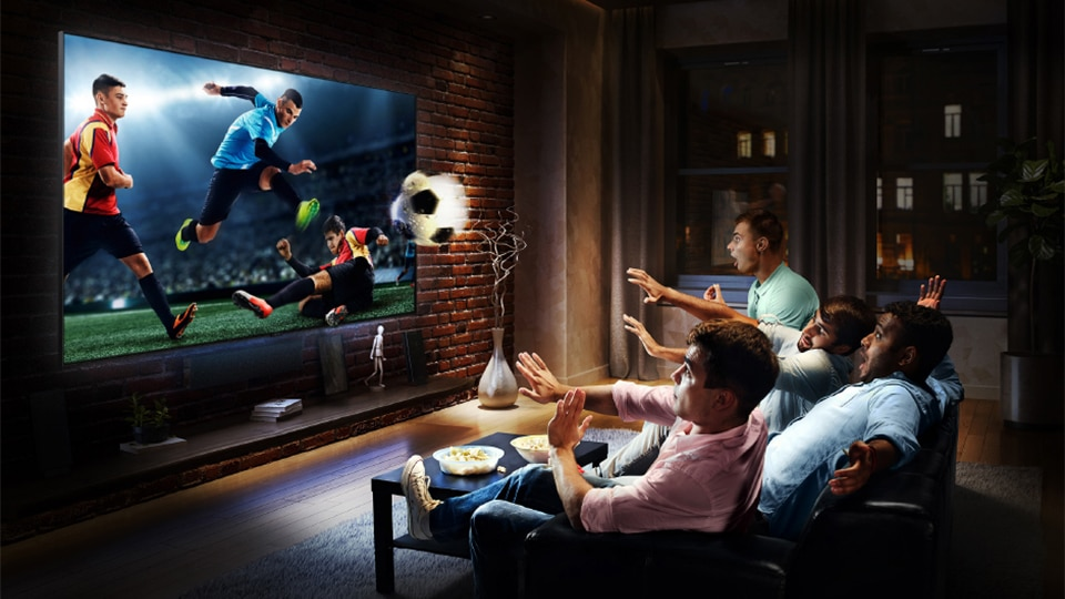 Samsung's big screen TV brings all the excitement of the big soccer game at home