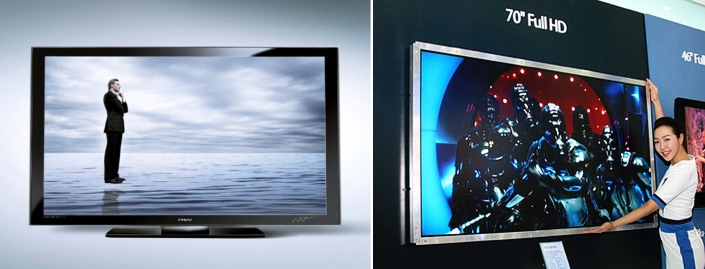 The world's first 70-inch LCD TV and LCD display from Samsung