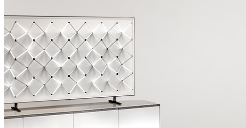 A 2019 QLED TV on ambient mode