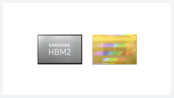 20nm 8GB HBM2 DRAM-based 2nd gen. Aquabolt記憶體產品圖像