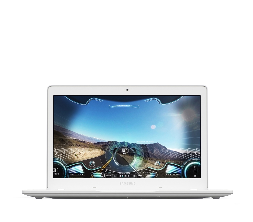 An image of the Samsung Notebook Odyssey, showing its screen with game