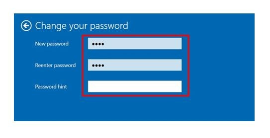 enter, new password, hint, change password, login password, windows 10, sign-in, login-in, sign in, log in, samsung pc, computers, tablets, notebook, netbook