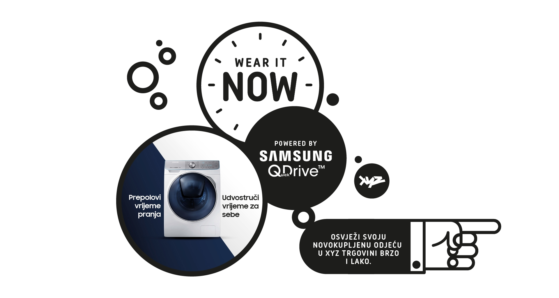 Samsung predstavlja QuickDrive perilicu i WEAR IT NOW! uslugu u suradnji s XYZ.