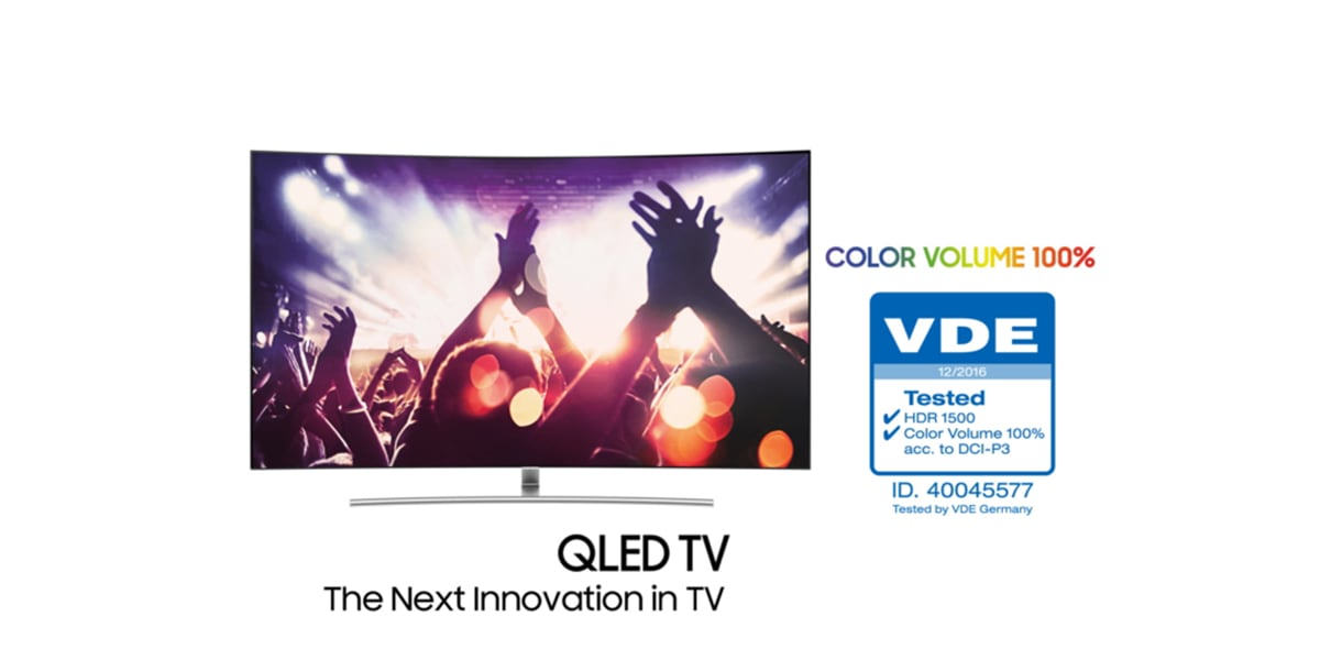 Samsung's New QLED TV Becomes the First '100 Percent Color Volume'-Verified TV