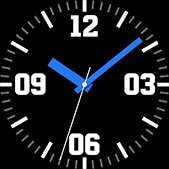 Intrepid watch face in blue