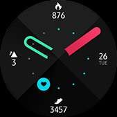 Fresh watch face in green