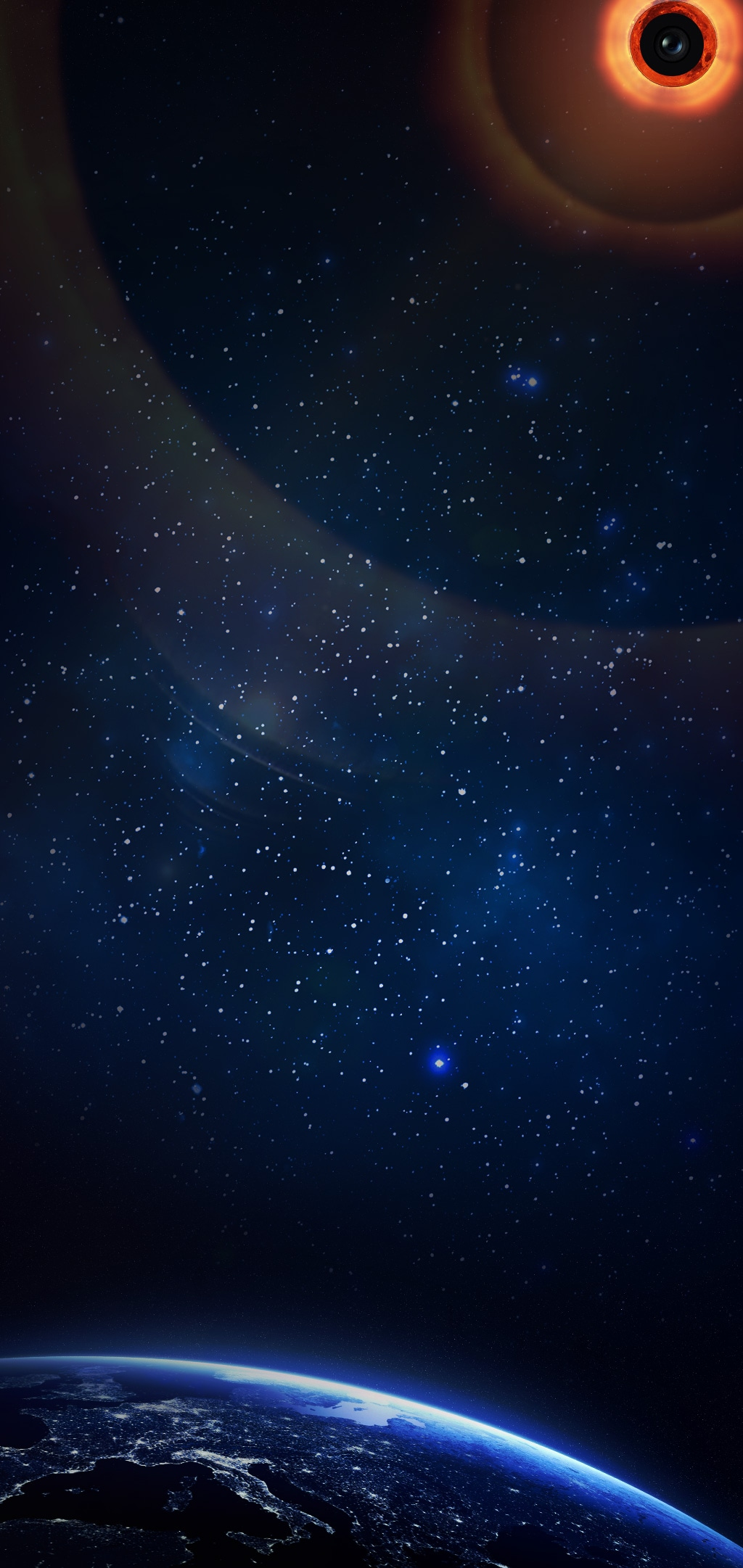 galaxys10wallpaper sun
