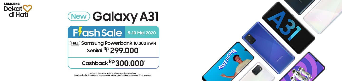 Galaxy A31 Flash Sale